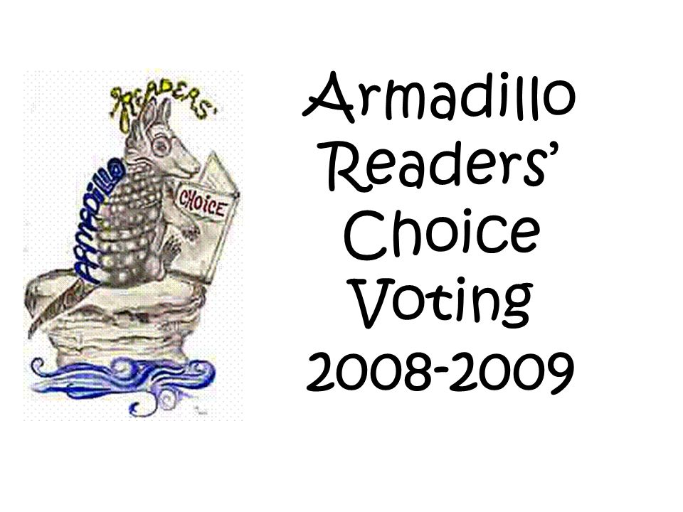 Lets review this years Armadillo books!