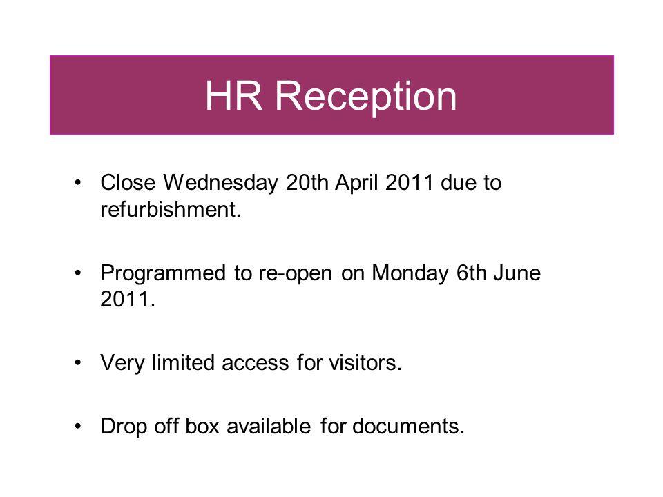 HR Reception Staff Registration Online staff registration for all new staff recruited via Rome.