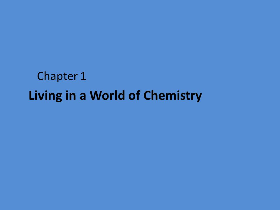 Chemistry is the study of matter and changes it undergoes. Everything that we do involves chemistry