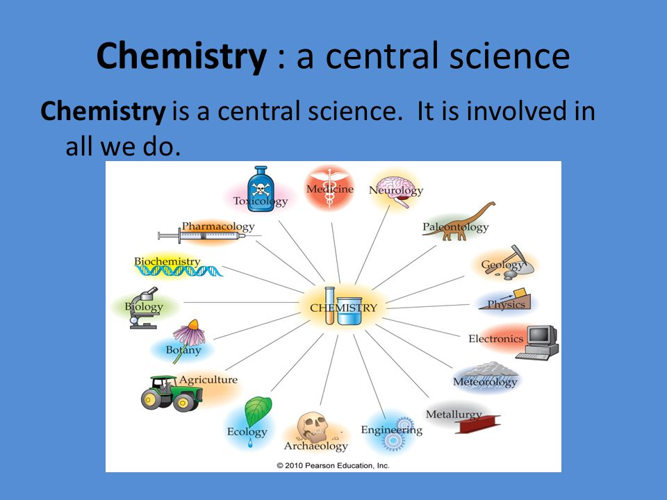 Chemistry : a central science Science is the process of seeking an understanding of underlying principles of nature.