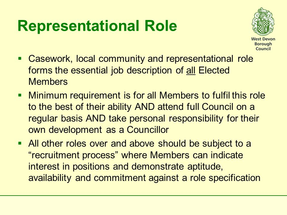 The Council  Is THE sovereign body  Could be where the key issues are formally debated and decided  Should agree on an annual basis what debates/decisions it wants to reserve to itself and what to delegate down