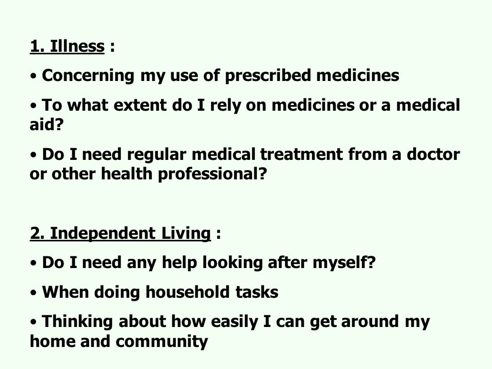 3.Social Relationships : Because of my health, my relationships generally..