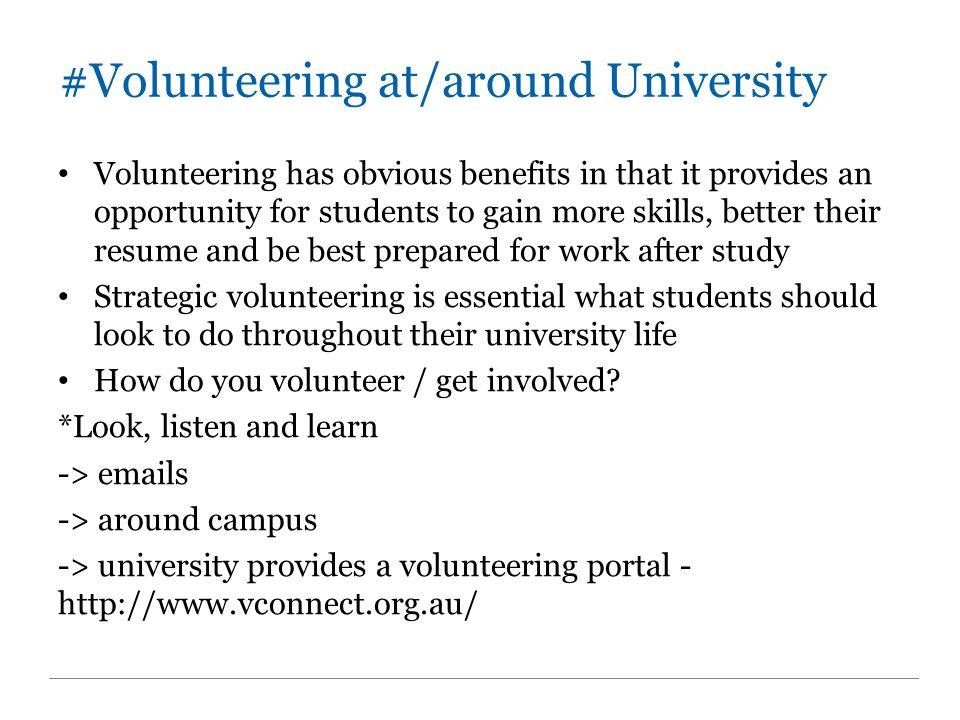 #Vconnect – AUU AUU VolunteerConnect (VConnect) is a program to help you link into volunteering opportunities with not-for-profit organisations.