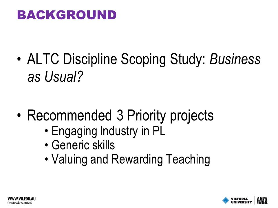 PROJECT OBJECTIVES O1 : Current Practice Scoping Output : framework for categorising PL in business O2 : Identify good practice principles Output : good practice guide O3 : Development of Resources & Cases Output : Illustrative case study for each PL category Industry engagement strategies Web resources – eManual