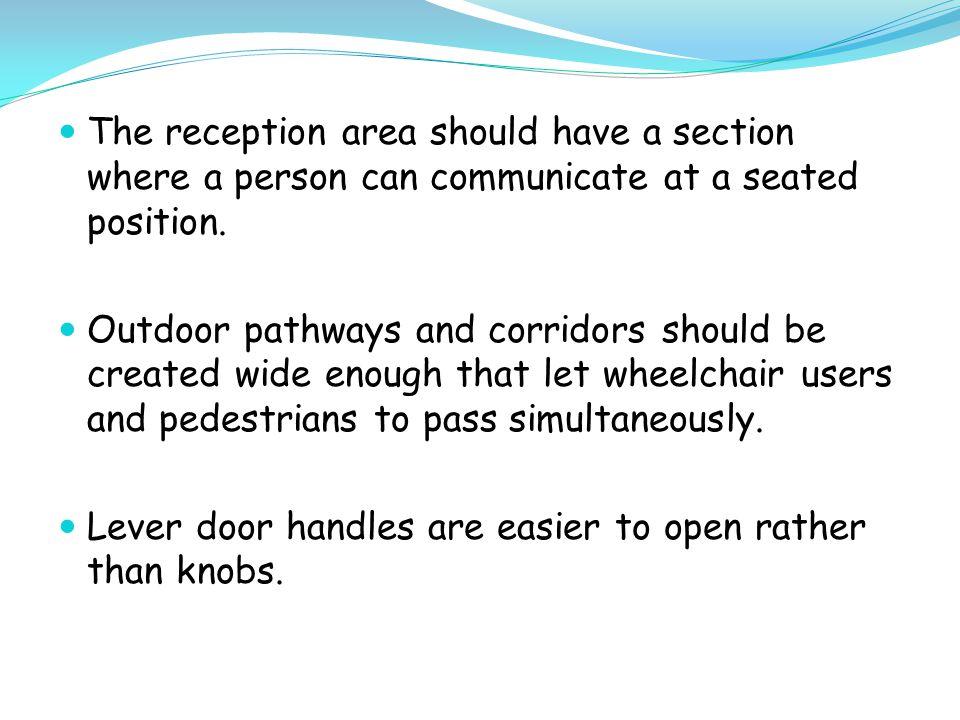 Preferably sliding doors or sensor doors are installed.