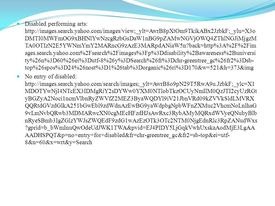 Pendulum: http://search.yahoo.com/search?fr=chr-greentree_gc&ei=utf- 8&ilc=12&type=407453&p=pendulum+imagehttp://search.yahoo.com/search?fr=chr-greentree_gc&ei=utf- 8&ilc=12&type=407453&p=pendulum+image See-saw: http://images.search.yahoo.com/search/images;_ylt=A0LEVzNgLG9TZhEA1ptXN yoA?p=see+saw+image&fr=chr-greentree_gc&fr2=piv-web http://images.search.yahoo.com/search/images;_ylt=A0LEVzNgLG9TZhEA1ptXN yoA?p=see+saw+image&fr=chr-greentree_gc&fr2=piv-web Society disables: mages.search.yahoo.com/images/view;_ylt=AwrB8pXFMW9TABAA90WJzbkF;_ylu=X3oD MTIzNWVlcnQxBHNlYwNzcgRzbGsDaW1nBG9pZAMxNDE0NmFjMmZiMzdhNzVkNm Y3YzRmOGUyZDY3NWY2MARncG9zAzg2BGl0A2Jpbmc- ?back=http%3A%2F%2Fimages.search.yahoo.com%2Fsearch%2Fimages%3Fp%3Dsociety% 2Bdisabled%26n%3D60%26ei%3Dutf-8%26y%3DSearch%26fr%3Dchr- greentree_gc%26fr2%3Dsb- top%26spos%3D12%26nost%3D1%26tab%3Dorganic%26ri%3D86&w=741&h=648&imgurl =disabilityinbusiness.files.wordpress.com%2F2013%2F01%2F1g7.jpg&rurl=http%3A%2F%2 Fdisabilityinbusiness.wordpress.com%2F2013%2F01%2F25%2Fi-dont-mean-to-teach-you-to- suck- eggs%2F&size=89.3KB&name=The+Social+Model+of+Disability&p=society+disabled&oid= 14146ac2fb37a75d6f7c4f8e2d675f60&fr2=sb-top&fr=chr- greentree_gc&tt=The+Social+Model+of+Disability&b=61&ni=96&no=86&ts=&tab=organic &sigr=12r52eca0&sigb=14mtp3qdi&sigi=11o1s31s5&sigt=10uktdrq3&sign=10uktdrq3&.cru mb=Om/w8A/lLyi&fr=chr-greentree_gc&fr2=sb-top