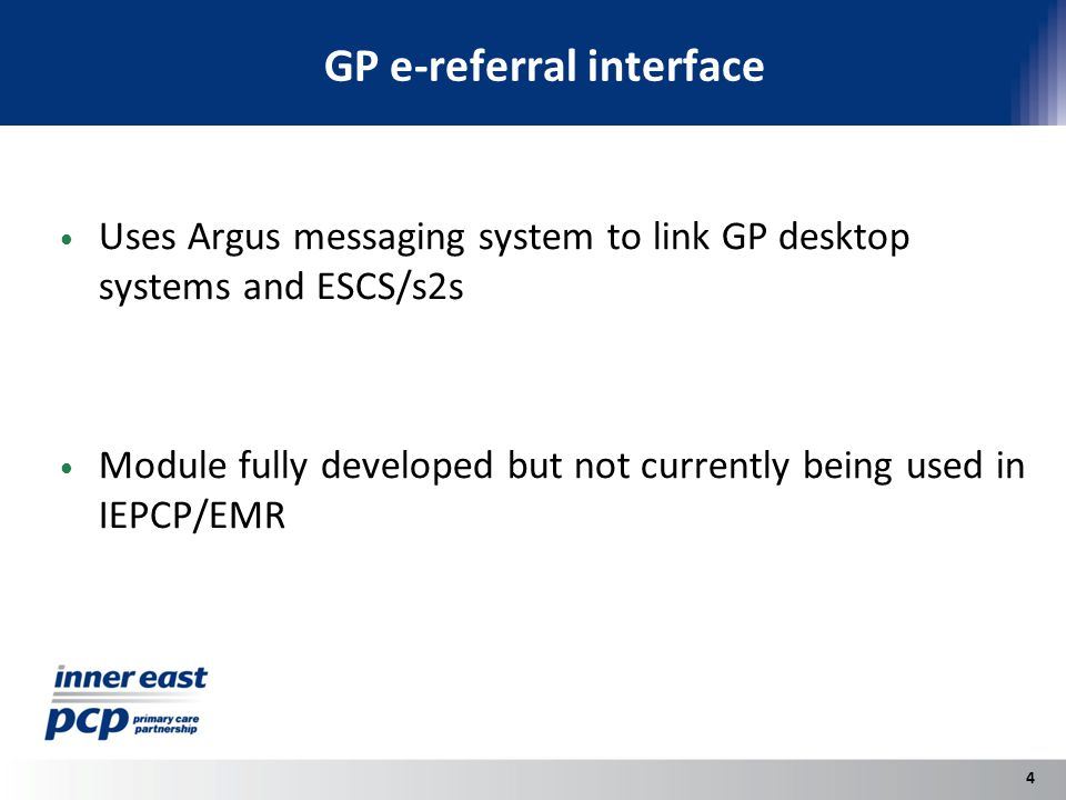 RDNS referral procedures Special module for managing referrals to and from RDNS (Different approach needed because of RDNS Intake system) Many agencies not aware of ability of RDNS to receive e-referrals and how to do this 5