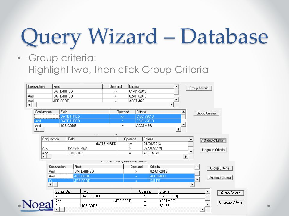 Query Wizard – Database Calculations and subtotals