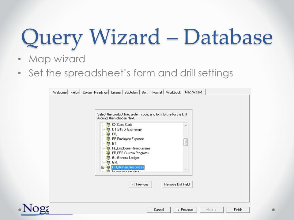 Query Wizard – Database View the 'raw' query that is sent to the server