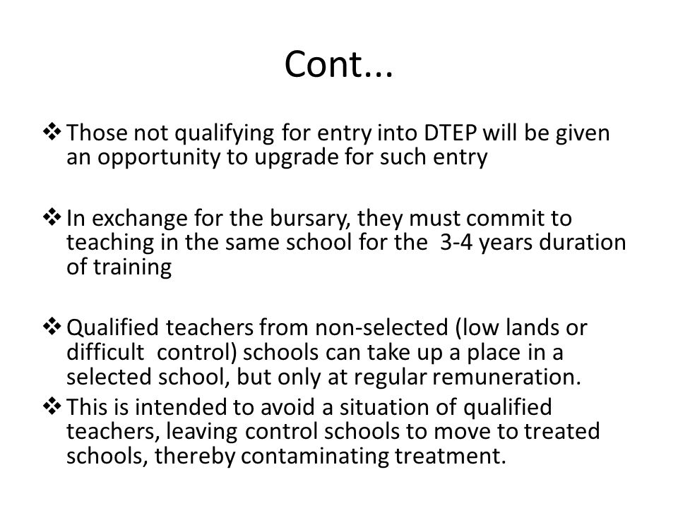 Incentive Objective Increase supply and equitable distribution of qualified teachers across the country To improve quality of education in difficult schools