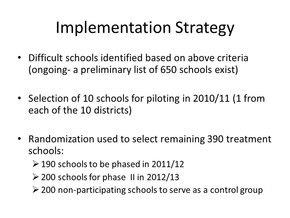 Cont… The intervention will run through remaining 4 years of project life span (2010- 2013) and effort will be made to visibly integrate it in annual plans and budget from 2010/11.