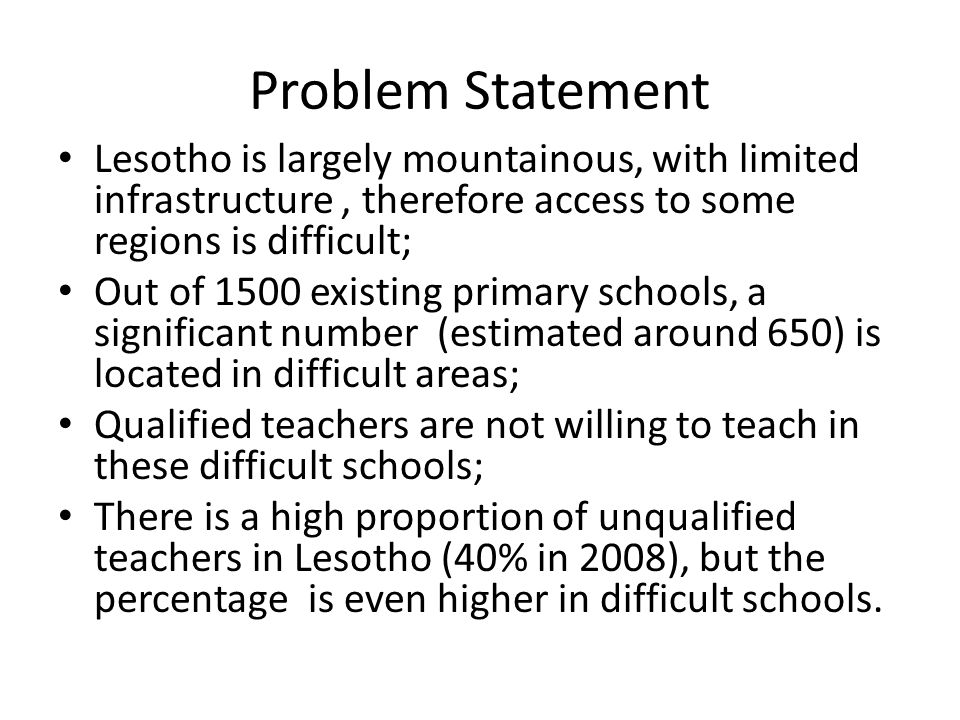 Cont… On the other hand, unqualified teachers are willing to upgrade, mainly through enrolment into Distance Teacher Education Programme (DTEP), but are constrained by cost and space.