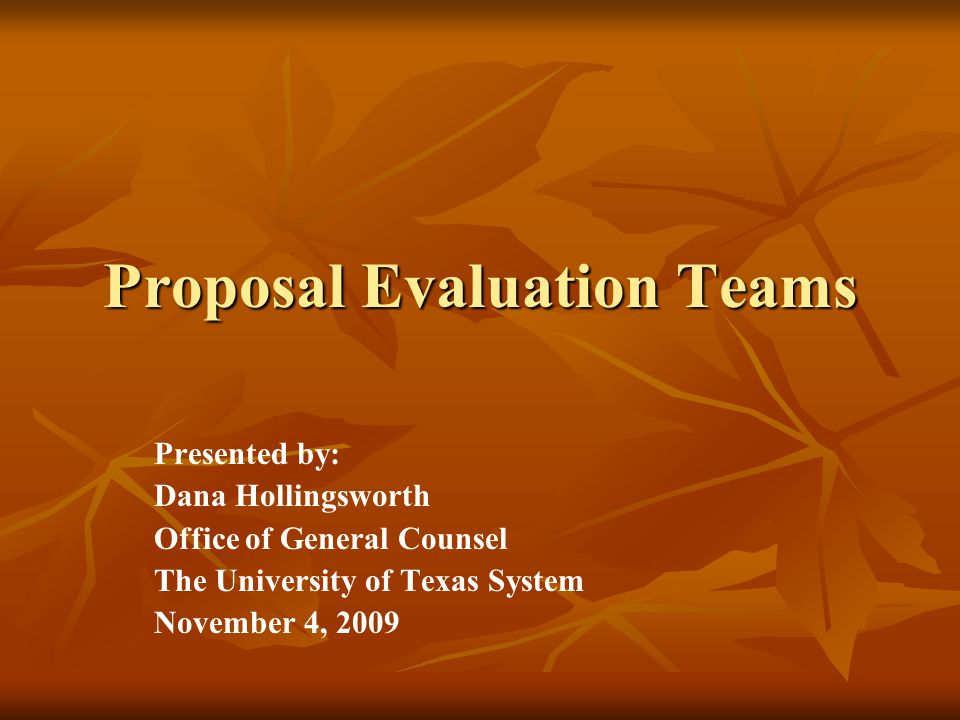 Selecting the Evaluation Team Conflicts of interest must be avoided Conflicts of interest must be avoided Appearances of conflicts of interest should be avoided Appearances of conflicts of interest should be avoided If the value of the contract is at least $1 million, the Disclosure Statement for Purchasing Personnel must be signed by each Team member (ref.
