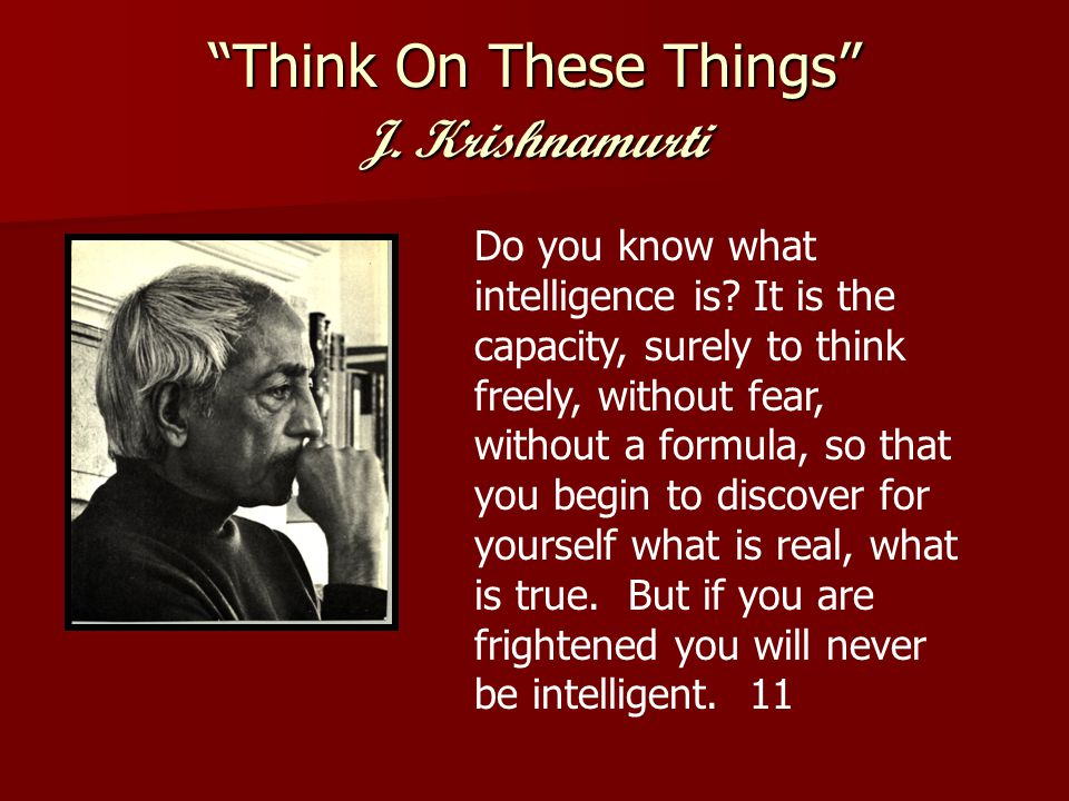 Think On These Things J.