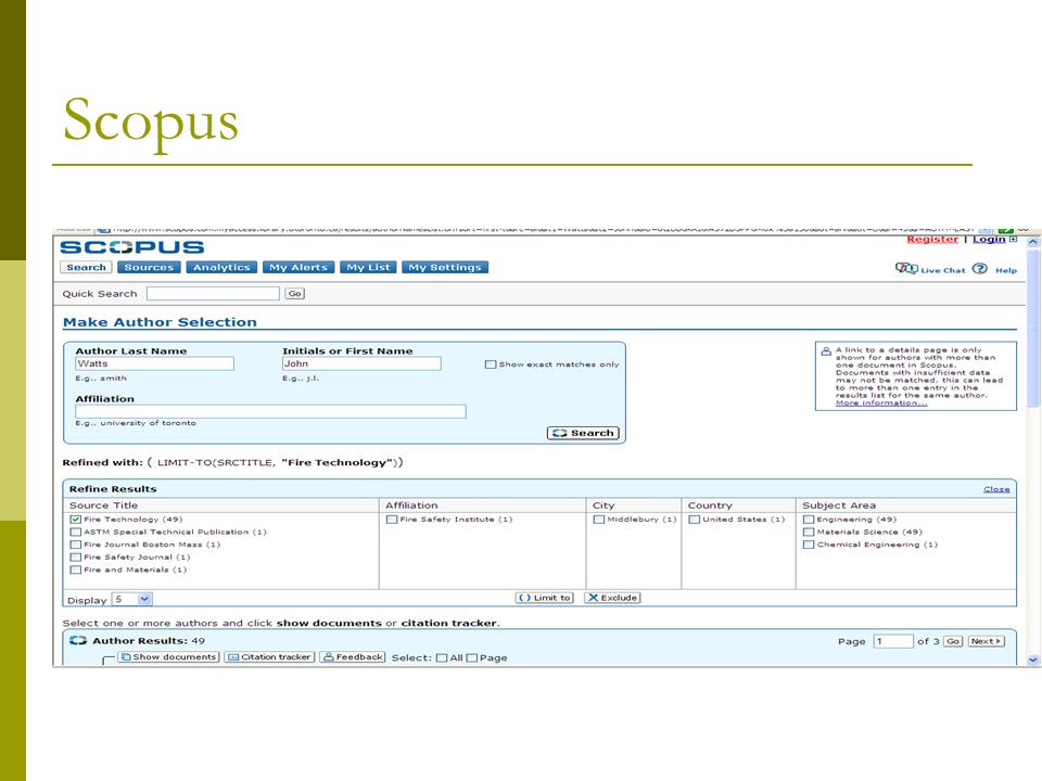 Scopus – Results