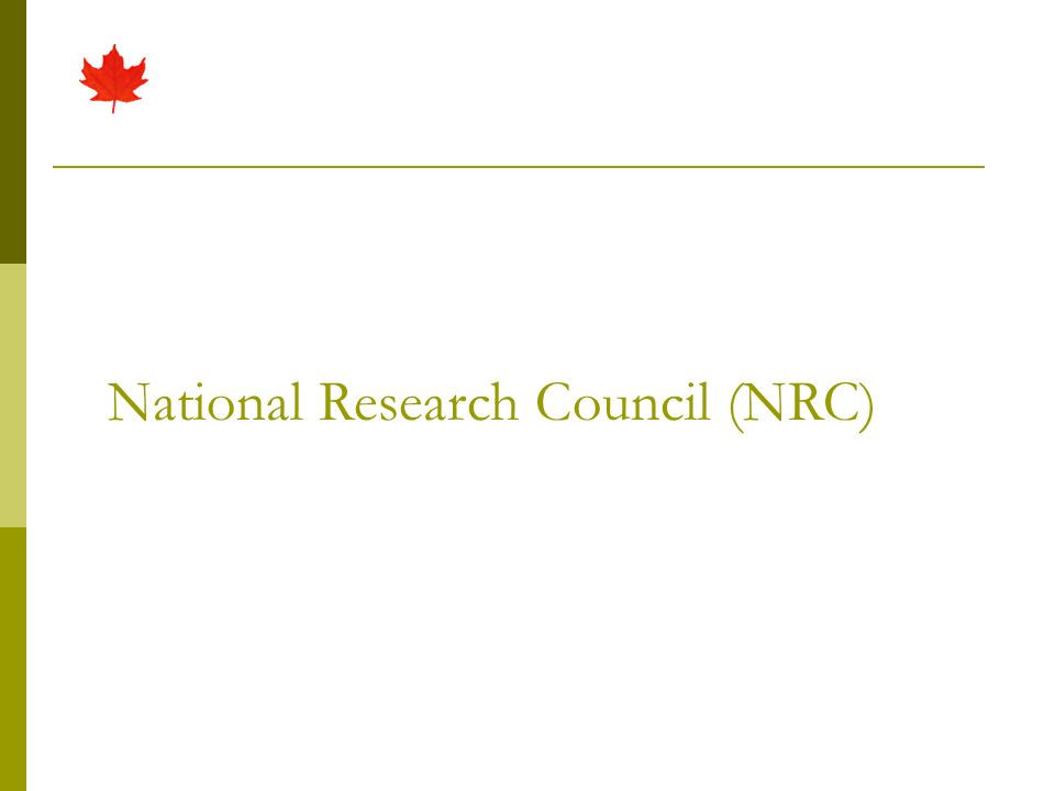 NRC Collection One of the largest collections of engineering, physical & life sciences, technology, health sciences in North America 50,000+ journal titles 800,000+ conference, technical papers 2 million technical reports All languages/countries where sci/tech is published Journals indexed in major scientific databases