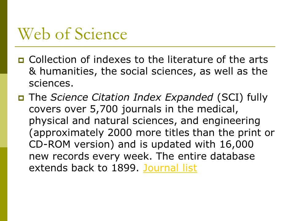 Web of Science – Author Search Can limit by Author, Publication or topic Also Limit by year, by Index – choose Science Citation or Conference Proceedings