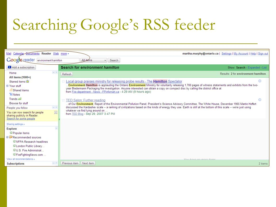 Advantages of an RSS Internet Reader One of the best advantages is that you can access your reader from any computer that has internet access.