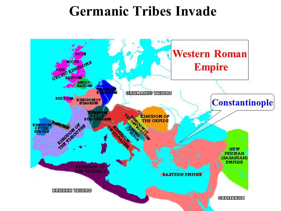Germanic Tribes Invade Constantinople Western Roman Empire