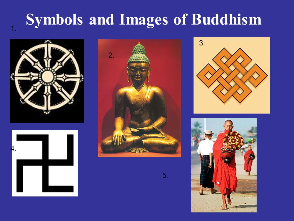 Symbols and Images of Buddhism 1. 2. 3. 4. 5.