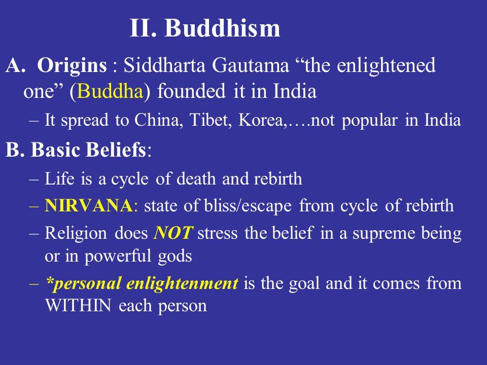 II.Buddhism A.