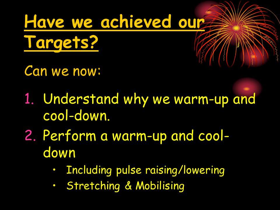 Key Words Pulse Raising Temperature Raising Preparation Stretching Recovery
