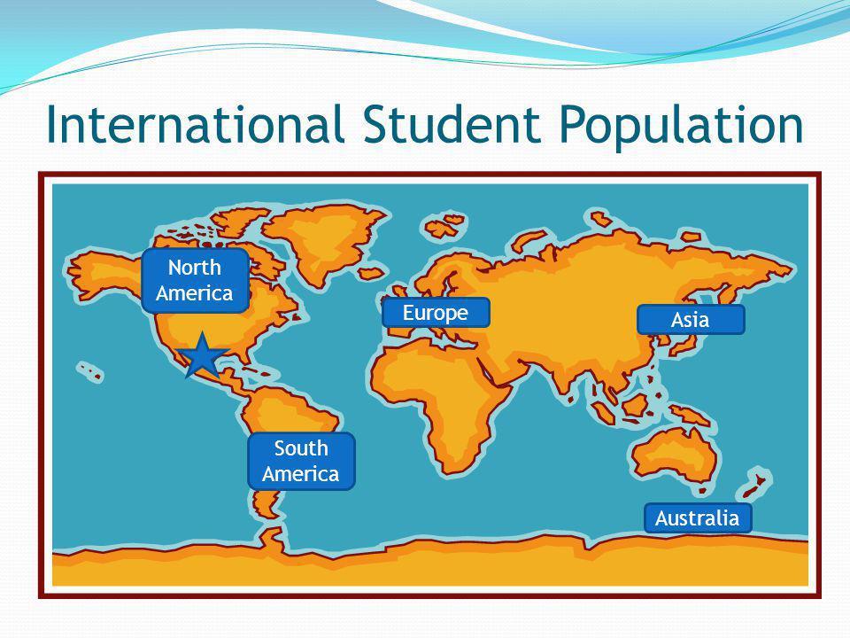 International Student Population Australia Asia Europe South America North America