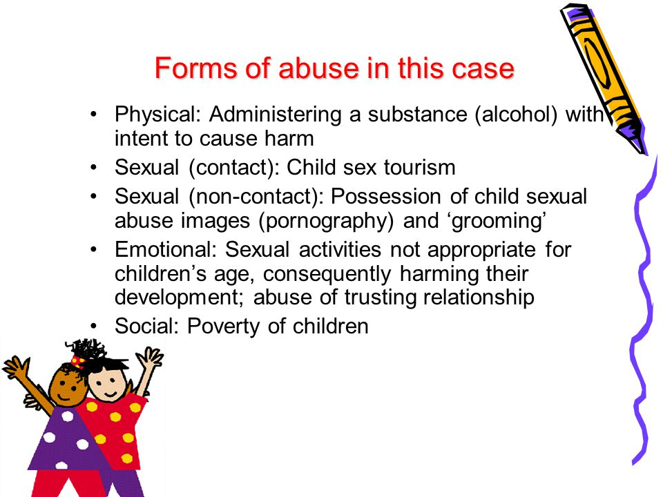 The involvement of a child in a sexual activity that s/he does not fully comprehend, is unable to give informed consent to, or is not developmentally prepared for Can be contact (having physical sexual interaction with a child) or non- contact (possession of child pornography) Child sexual abuse