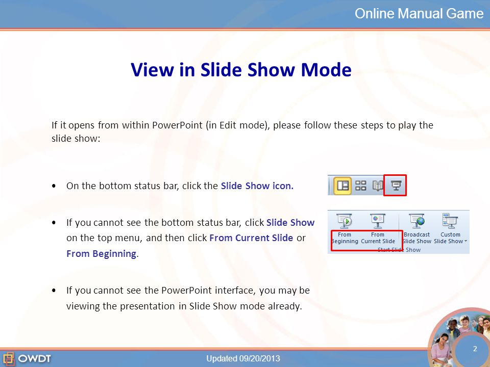 Online Manual Game Game Instructions Please do not go ahead of the class.