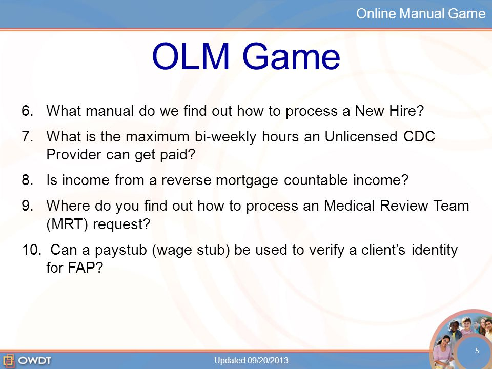 Online Manual Game Who got the most answers correct? Updated 09/20/2013 6
