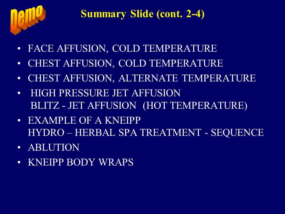 Summary Slide (cont.3-4) 1.