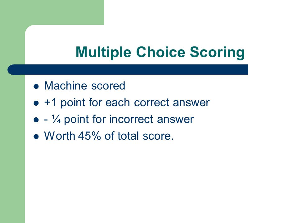 Sample Multiple Choice Questions 1.