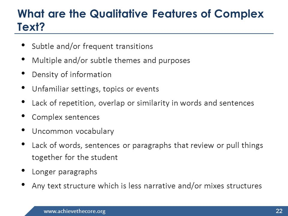 www.achievethecore.org Close Analytic Reading 23 Requires prompting students with text-dependent questions to unpack complex text and gain knowledge.