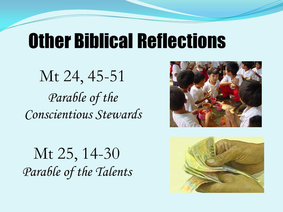 Matthew 24,45-51 The Faithful or the Unfaithful Servant ( Luke 12:41-48) Who, then, is faithful and wise servant?It is the one that his master has placed in charge of the other servants to give them their food at the proper time.