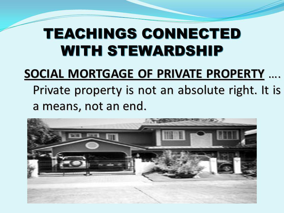 TEACHINGS CONNECTED WITH STEWARDSHIP ACCOUNTABILITY ….