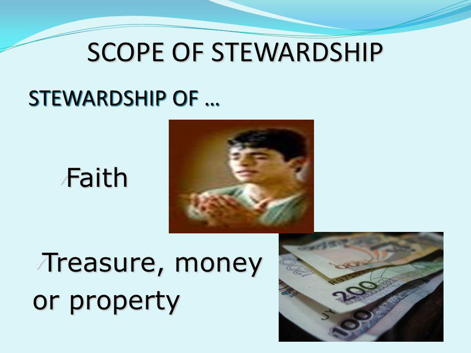 SCOPE OF STEWARDSHIP STEWARDSHIP OF … Vocation and position Vocation and position Capabilities Capabilities