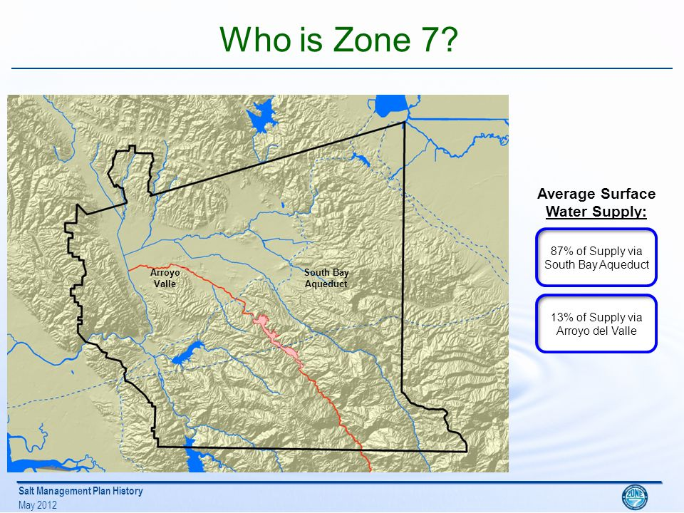Salt Management Plan History May 2012 Who is Zone 7.