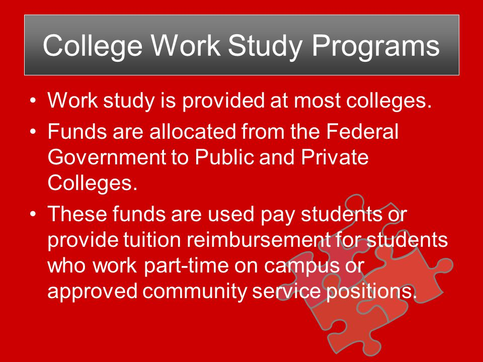 The Federal Government provides Financial Aid loans to qualifying students.