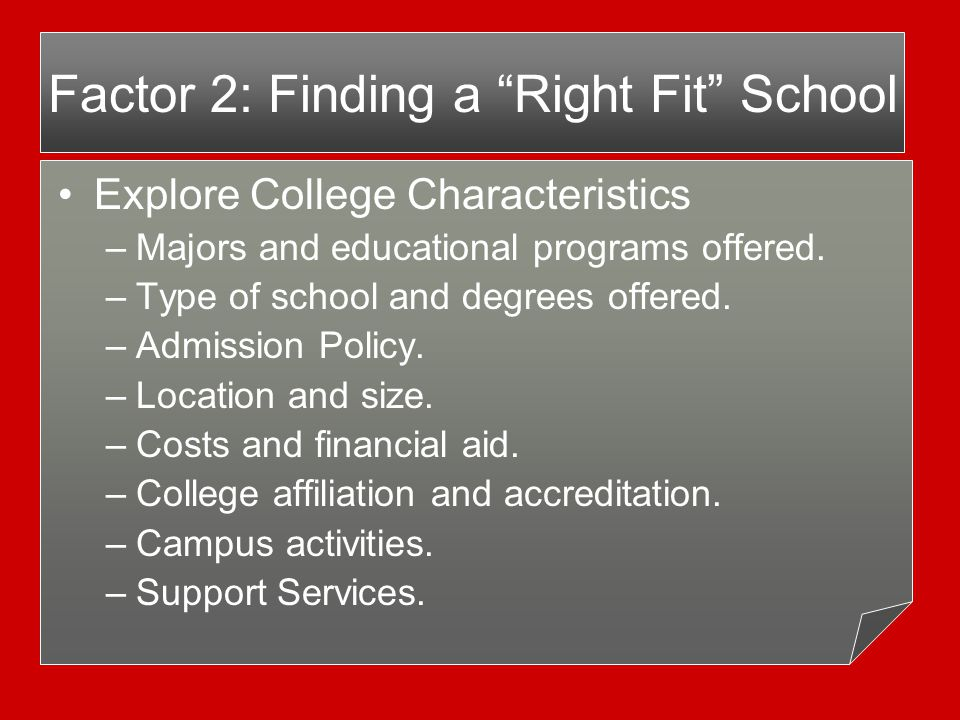 Checklist for a Campus Visit Meet with Admissions Counselor.