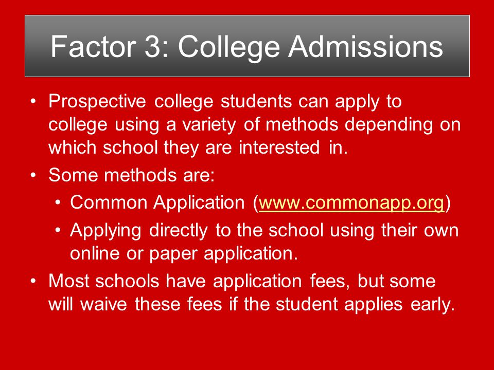 1.Grade Point Average (GPA) Alternatives for Low GPA students.