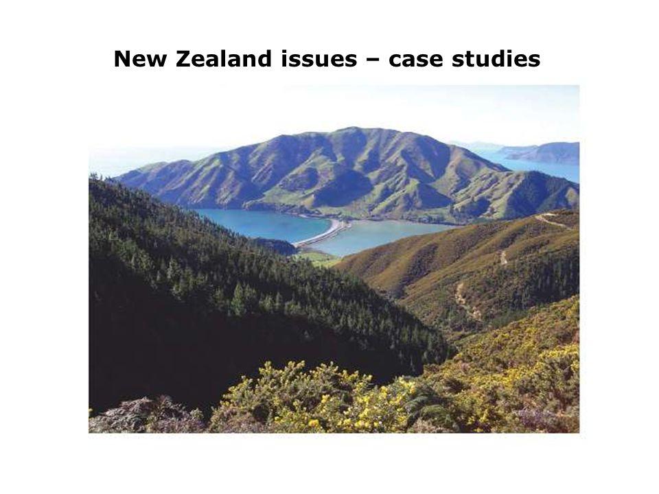 New Zealand issues – case studies