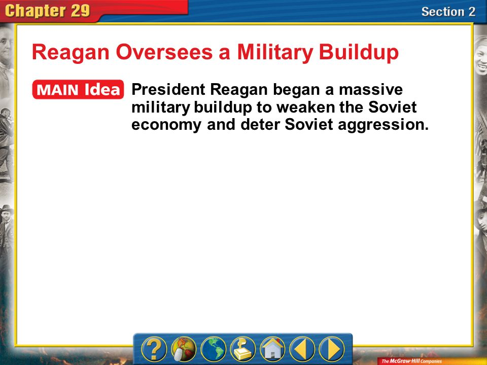 Section 2 Reagan rejected both containment and détente when dealing with the Soviet Union.