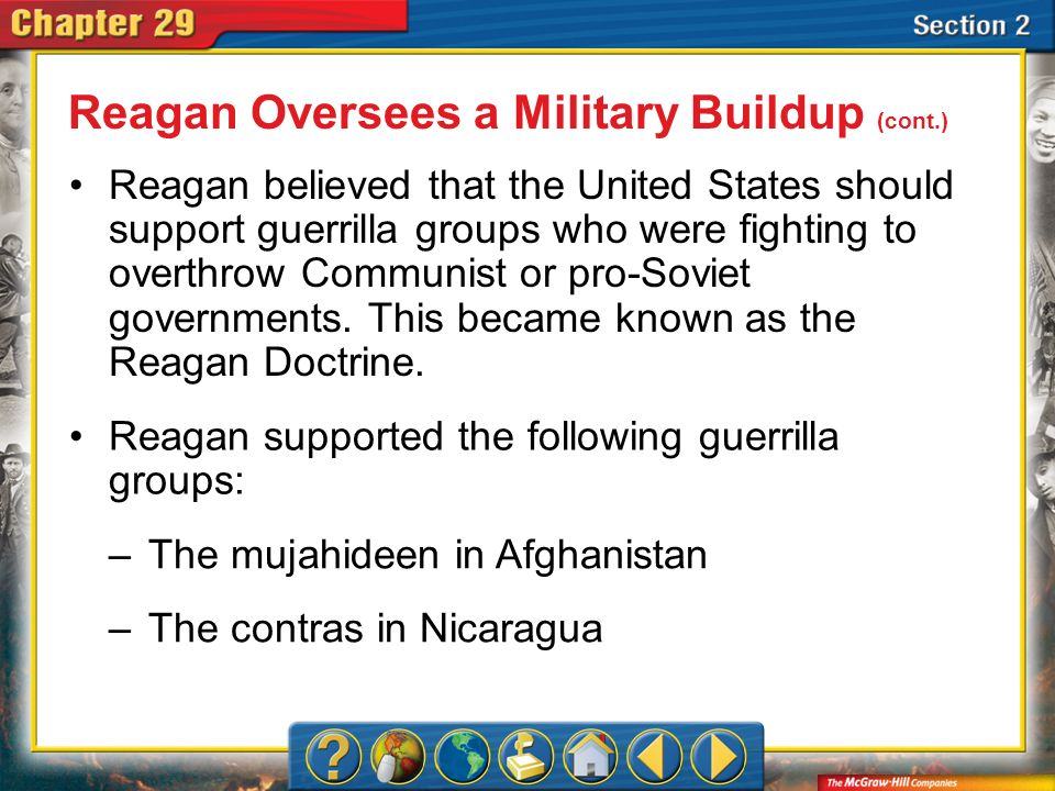 Section 2 Although Congress had prohibited aid to the Nicaraguan contras, individuals in Reagans administration continued to illegally support the rebels.