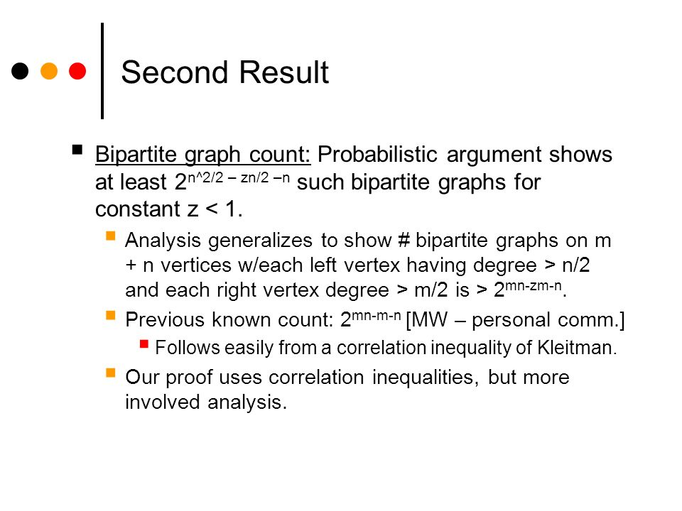 Summary Results: Optimal Lower Bound: 8 k 1 and any = (m -1/2 ), any -approximator for F k must use ( -2 ) bits of space.