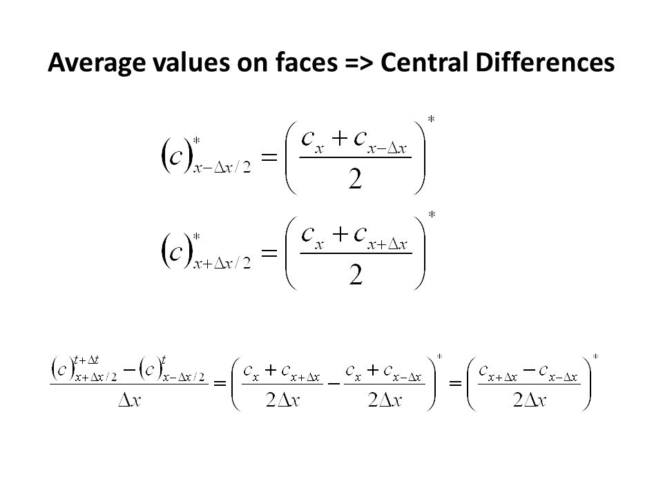 Explicit Central Differences Stability conditions:
