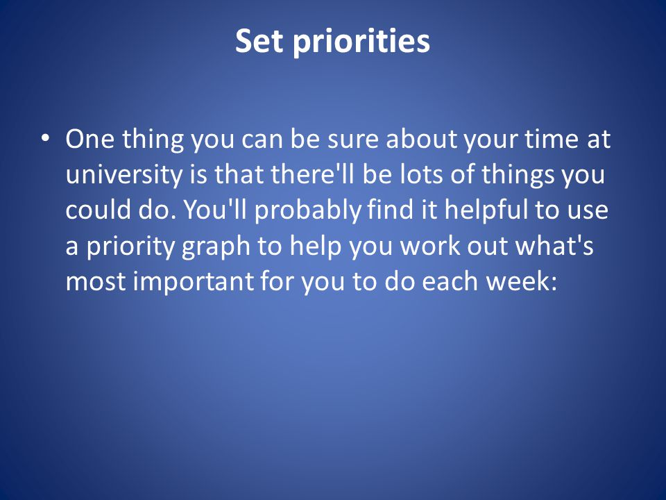 Check your progress to make sure that your planning strategy is up to date.
