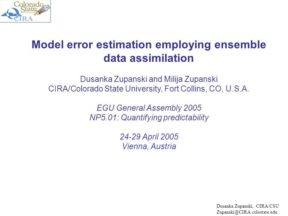 OUTLINE  Why do we need to estimate model error.