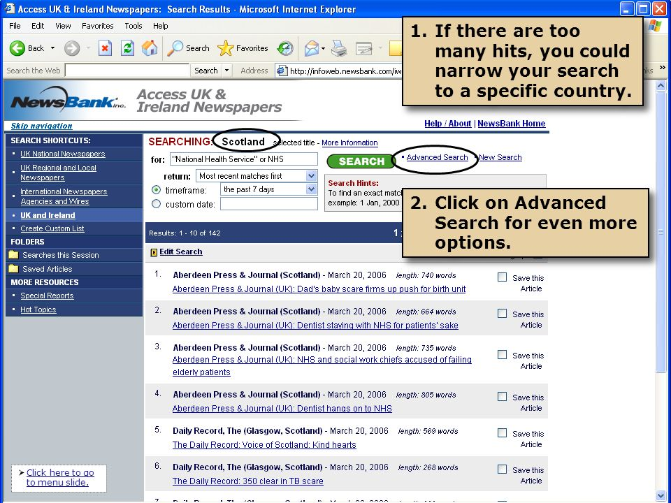 1.You can focus your search criteria with the drop-down boxes.