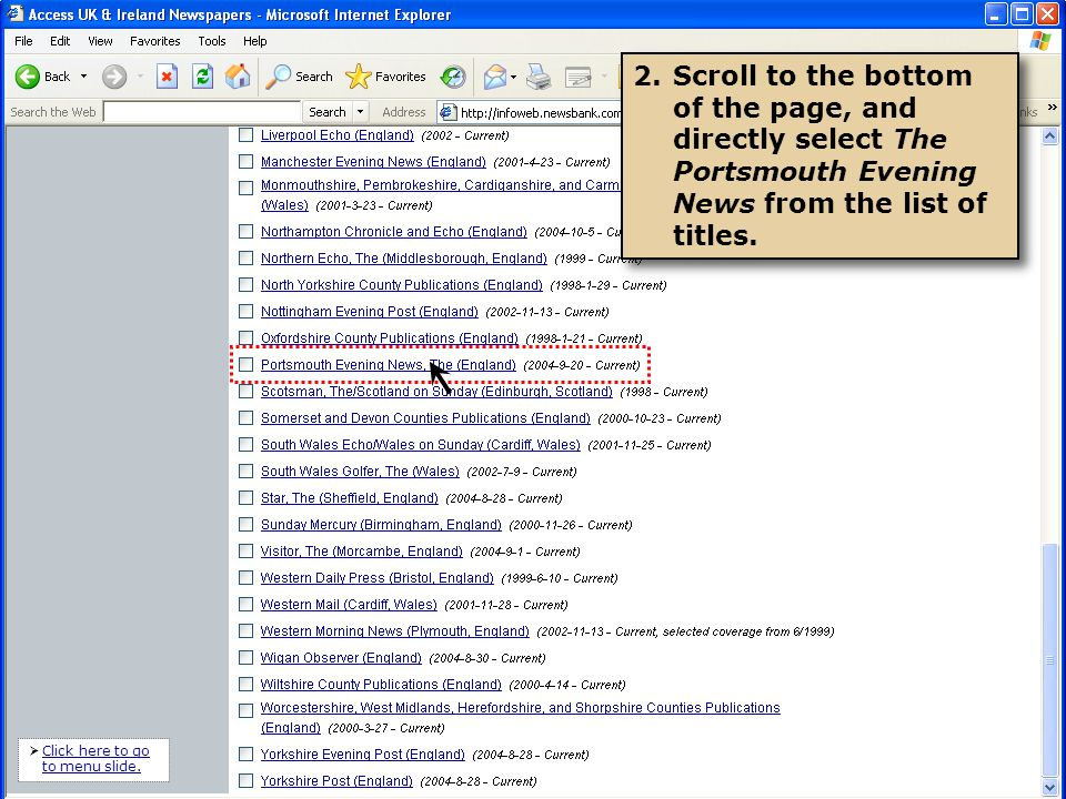 3.You can type the publication date you wish to review and click BROWSE.