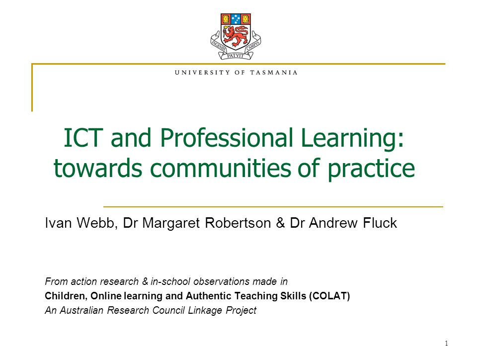 2 Professional Learning & ICT - the current context